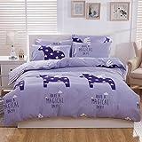 Sucastle,Bettwäsche Eine Vierköpfige Familie Fashion Bedding,Cotton,Bed Width:150cm