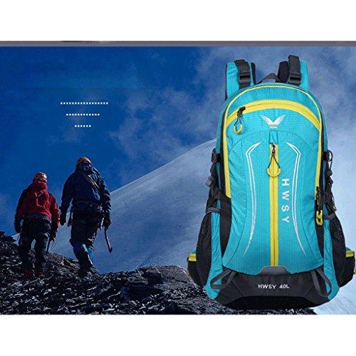 La borsa a tracolla colori misti nuova borsa da viaggio esterno pacchetto arrampicata 40L trekking impermeabili alpinismo commercio azzurro