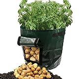 Wawer Pflanzbeutel, Kartoffel Pflanzen PE Tasche Anbau Topf Gemüseanbau Hausgarten Liefert 34x35cm