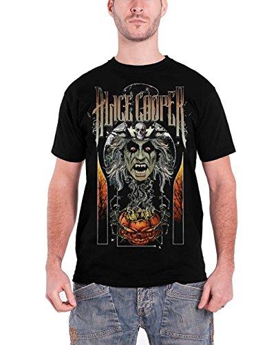 lloween offiziell Herren Nue Schwarz T Shirt (Alice Cooper-halloween)