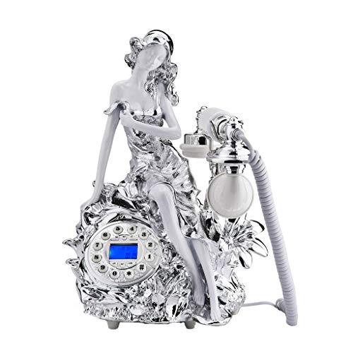 Unbekannt Liuyu · Lebendes Haus Harz Retro Telefon Styling Dekoration Silber Metall Knopf Typ Pastoralen Mode Kreative Sitz Europäischen Home Office 255mm * 340mm * 250mm