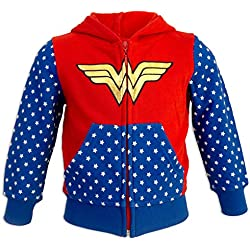 DC Super Hero Girls - Sudadera - para niña - 6931HR [Rojo Wonder Woman - 3 años - 98 cm]