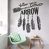 LLLYZZ Arrow Stickers Muraux Suivez Votre Flèche Vinyle Autocollant Amovible Yoga Sticker Mural Décor pour Chambre Murale Art Mural 57 * 57cm