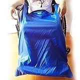 QJXF Rollstuhldecke Mit Fußbetäcken, Wasserdichtes Winddiesgut Und Velvet Lining (Blau),Big