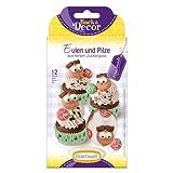 BackDecor Eulen Set | Eulen aus Zucker | Pilze Zuckerfiguren | Waldbewohner Tortendeko | Waldtiere aus Zucker
