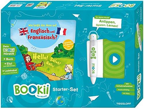 BOOKii® Starterset Wie heißt das denn auf Englisch und Französisch?: BOOKii® Der Hörstift mit Aufnahmefunktion und BOOKii® Buch Wie heißt das denn auf Englisch und Französisch?