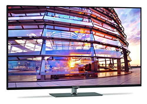 TechniSat TECHNIMEDIA UHD+ 55 139,7 cm (55 Zoll) Fernseher mit dreifachem Twin-Tuner, Smart-TV, 3D, titan-metallic [Energieklasse - Tv 3d Smart 55