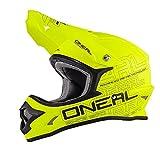 O'Neal 3Series MX Helm Flat Neon Gelb Hi-Vis ABS Motocross Enduro Cross Motorrad, 0623-03, Größe L (59/60 cm)