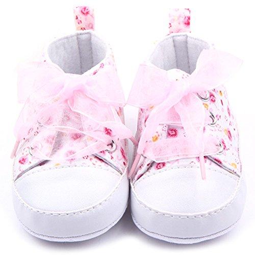 Etopfashion Kleinkind-Baby-Kind-M?dchen-weiche alleinige Krippe-S?uglings-neugeborene beil?ufige Schuhe des Blumens Pink