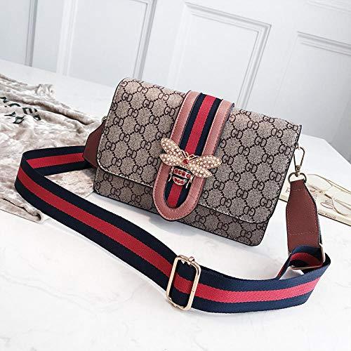YZJLQML Die Kleidung der Damentaschenfrauen Art und Weisedamentaschendrucken-Schulterdiagonaltasche Wilde kleine quadratische Taschenhandtasche - Rosa