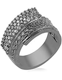 Florishkart Cz Stone Alloy Metal Ring For Girls & Womens