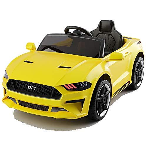 GT Raptor Cabriolet Elektro Kinderauto Ride-On 12V - 2X Motoren (Gelb)