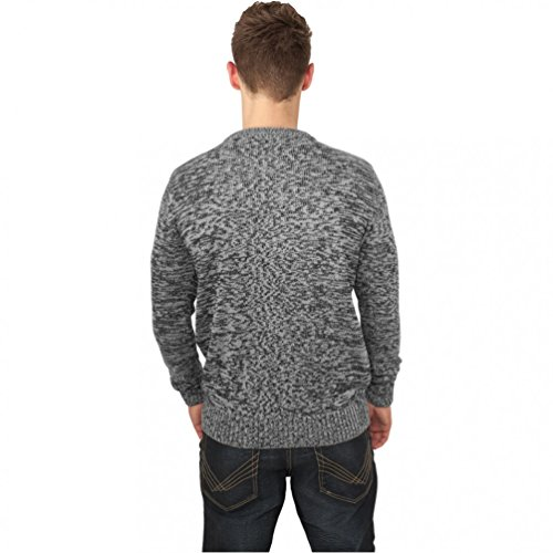 Melange Knitted Crew black/grey