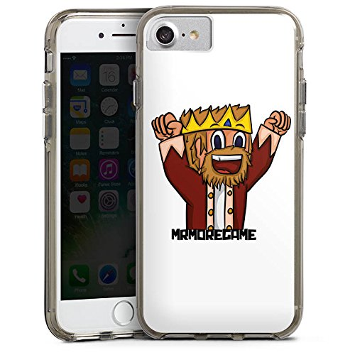 Apple iPhone X Silikon Hülle Case Schutzhülle MrMoregames Fanartikel Merchandise Youtuber Bumper Case transparent grau