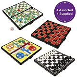 HTI Toys Traditional Games Travel Size Magnetic Board Games Sets For Kids Adults Boys And Girls Family Gaming Entertainment - 4 Assorted 1 Supplied At Random