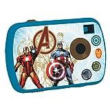 The Avengers Lexibook DJ017AV - Fotocamera Digitale 1.3MP, design Captain America/Iron Man, Schermo LCD, memoria 624 immagini, Blu