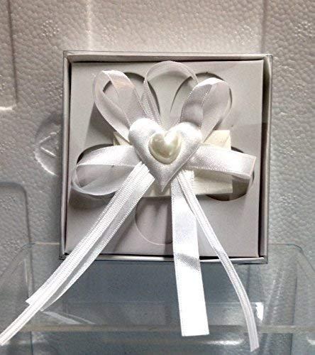 Publilancio Srl Super Angebot 101 Stück Box Kleine Schachtel Mandeln Beutel in Karton und PVC mit Dekorationen und Anwendung Herzförmige - 101 Mandel