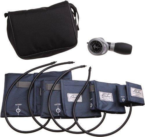 American Diagnostic 732-n multikuf 7324-cuff EMT Kit mit 804tragbar Palm Aneroid Blutdruckmessgerät, Blut Druck Manschetten (13-50cm), Nylon schwarz Reißverschluss Aufbewahrungstasche, Marineblau -