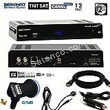 SERVIMAT–Vega HD SERVIMAT Satelliten Receiver + Karte TNTSAT +-IR + Kabel HDMI + 12V + LNB Best HG101Schwerer 0,1dB–vegafullpackhg101