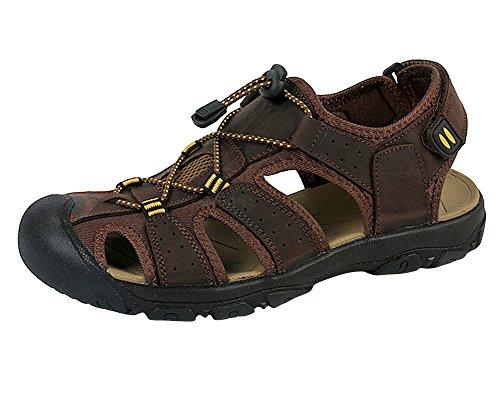 Genda 2Archer Les hommes touchent le cuir et les sandales extérieures d'athlétisme Marron foncé