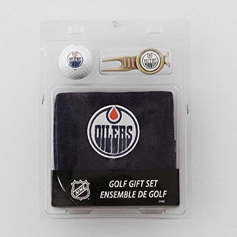Edmonton Oilers NHL Golf 4pc Set - Towel, Golf Ball, Divot Tool & Ball Marker - Size One-Size