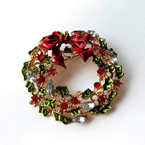 MingXinJia Mode Broschen Pins Frauen Weihnachten Brosche Boutique Weiblichen Kreativen Anzug Pin Vintage Schmuck für Frauen und Mädchen