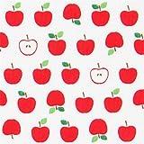 Tela blanca con fruta manzana roja pequeña Robert Kaufman Sevenberry Mini Prints