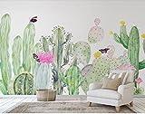 Yosot 3D Tapete Fototapete Benutzerdefinierte Größe Mural Wohnzimmer Farbe Kaktus Pflanze 3D Malerei Sofa Tv Hintergrund Wandmalereien-350cmx245cm
