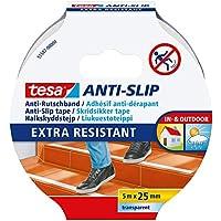 Tesa 55587-00000-00 Cinta Antideslizante Suelos (5 m x 25 mm), Transparente