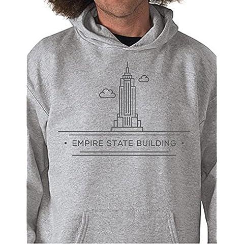 Felpa con cappuccio Città - New York - Empire State Building - Tutte le taglie by tshirteria