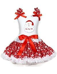 fe7ce4a0d3 Disfraz de Papá Noel de la Cara Blanco Camisa de algodón Rojo Copo de Nieve  Falda