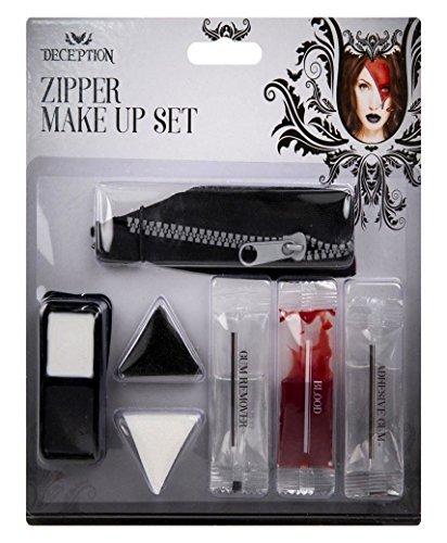 LotMart Halloween Schmink Set Gesichtsfarbe Vampir Zombie Horror Geist Kostüm Set und gratis Geschenk LotMart Promotion Stift pro Päckchen - ()