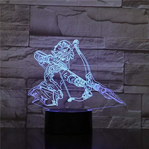 3D Nachtlicht Led Nachtlicht MusikRock Band Led3D Illusion Lampe für Home Office Raumdekoration Cooles Geschenk für Fans