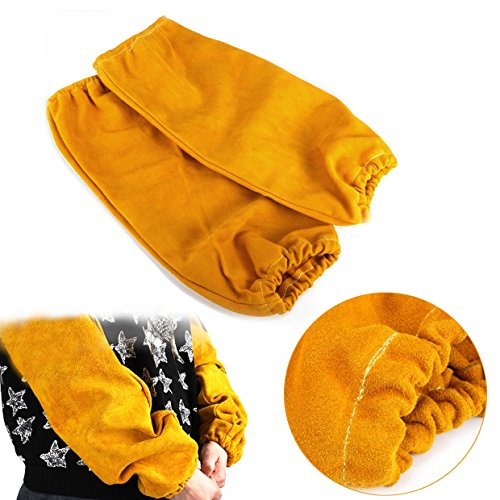 Ils - XL Blue Welding Gloves Leather Woodburner Gloves High Temperature Protect Welding Hand (Woodburners)