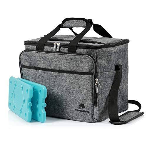 CampFeuer Kühltasche 30 Liter, leicht und wasserdicht, Isoliertasche für BBQ, Camping, Strand, Einkauf, Arbeit (grau)