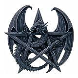 Wanddrache mit Pentagramm Wanddekoration Drache Halloween Gothic Deko Dragon