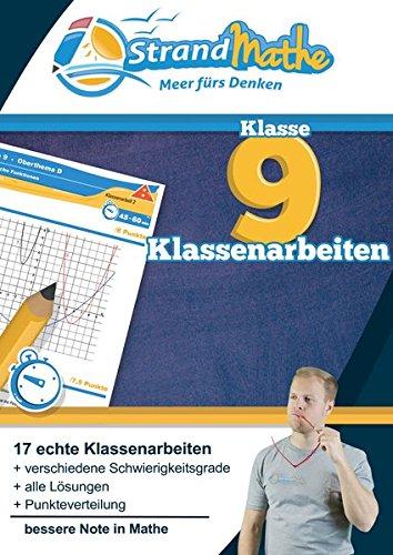 Mathematik Klassenarbeits-Trainer Klasse 9 - StrandMathe: Mathearbeit simulieren, Ergebnisse prüfen, selbst benoten, Lernlücken aufdecken!