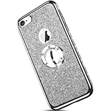 Ukayfe Bling Ultrad/ünn Sto/ßfest Anti-Scratch Bumper Kristall Strass Diamant Handy-Ring St/änder Weiche Silikon TPU Gl/änzend Glitzer Back H/ülle Kompatibel mit Huawei Mate 20 lite//Maimang 7-Lila