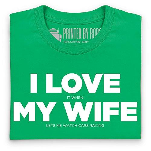 I Love Car Racing T-Shirt, Damen Keltisch-Grn