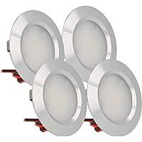 LEDLUX 4 pièces Mini Downlight LED rond mince 3W DC 12V 24V trou 50mm pour lumières cuisine salle de bain camping-car…