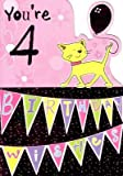 Selective Special Age Birthday Cards Girl 4Th Card 4 Four Today Childrens Ages In Shop