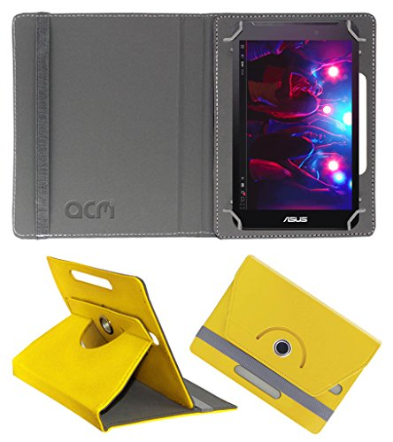 Acm Rotating 360° Leather Flip Case for Asus Fonepad 7 Fe170cg Cover Stand Yellow  available at amazon for Rs.149