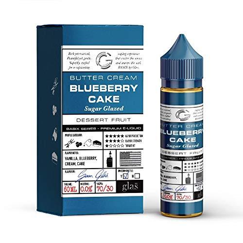 Blueberry Cake Liquid (DIY) - Glas Basix -Blaubeerkuchen- 50ml fertiges E-Liquid-70VG/30PG - 0 mg Nikotin - für E-Zigarette/E-Shisha (Shisha Blueberry)
