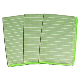 ABACUS 6135 Bambus Shine Glas-& Geschirrtuch 3er Set, grün