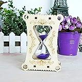 Hehuan holzrahmen Glas Sand sanduhr Sand Timer uhr wohnkultur Mädchen geburtstagstag geschenke ampulheta reloj de Arena Handwerk ornamente 8x5x12 cm Lila