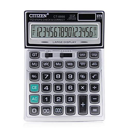 Solar Student Calculator Crystal-Tasten-Rechner 16-Bit-Display Großer Bürobedarf Desktop-Computer Q-94