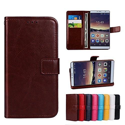 Funda® Flip Brieftasche Hülle für Bluboo Maya Max (Muster 8)