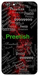 Preetish (God Of Love) Name & Sign Printed All over customize & Personalized!! Protective back cover for your Smart Phone : Samsung Galaxy J3 / J3 (2016) Duos
