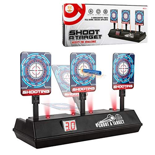 Bescita Zielscheibe für Nerf,Shooting Target Elektrische Ziel Toy Gun Elektrische Punktzahl Ziel Automatische Wiederherstellung Zubehör für Nerf Soft Bullet Gun Spielzeug