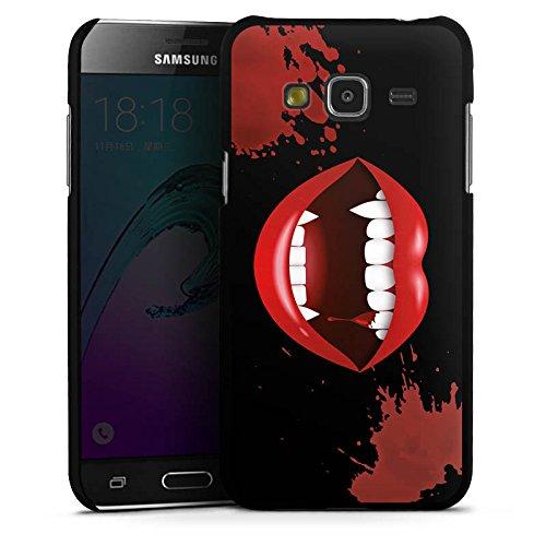 DeinDesign Hülle kompatibel mit Samsung Galaxy J3 2016 Handyhülle Case Vampir Halloween Lippen